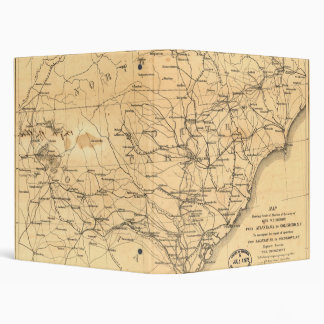 Civil War Sherman's March Map Atlanta to Goldsboro 3 Ring Binder