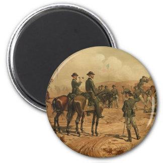 Civil War Siege of Atlanta by Thure de Thulstrup 2 Inch Round Magnet