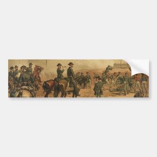 Civil War Siege of Atlanta by Thure de Thulstrup Car Bumper Sticker