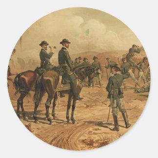 Civil War Siege of Atlanta by Thure de Thulstrup Classic Round Sticker