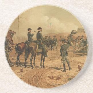 Civil War Siege of Atlanta by Thure de Thulstrup Drink Coaster