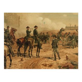 Civil War Siege of Atlanta by Thure de Thulstrup Postcard