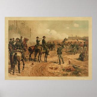 Civil War Siege of Atlanta by Thure de Thulstrup Poster