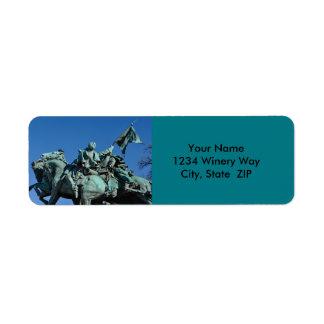 Civil War Soldier Statue in Washington DC_ Label