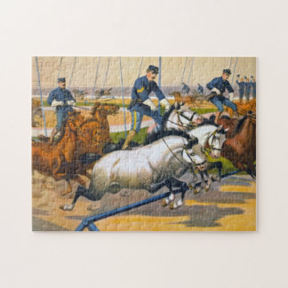 Civil War Soldiers in Circus. Kids puzzle. Jigsaw Puzzle