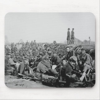 Civil War Soldiers in the Trenches Before Battle Mouse Pad