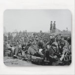 Civil War Soldiers in the Trenches Before Battle Mousepads