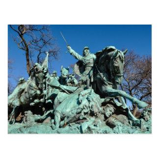 Civil War Statue in Washington DC Postcard