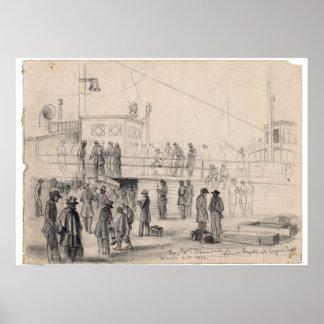 Civil War Steamboat Poster