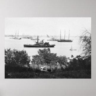 Civil War Transport Ships, 1860s Poster