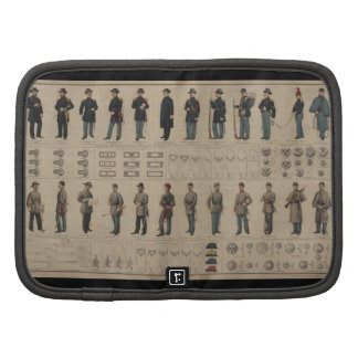 Civil War Union and Confederate Soldiers Uniforms Folio Planners