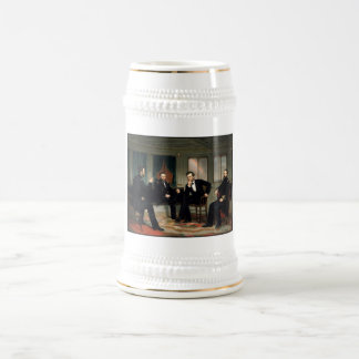 Civil War Union Leaders Painting Beer Stein