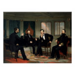 Civil War Union Leaders Painting -- Border Poster