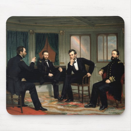 Civil War Union Leaders Painting Mouse Pad
