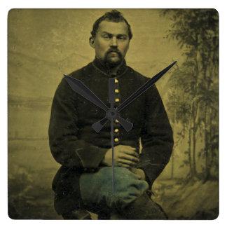 Civil War Union Soldier Tintype Wall Clocks
