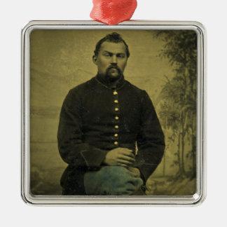 Civil War Union Soldier Tintype Ornaments
