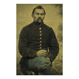 Civil War Union Soldier Tintype Stationery