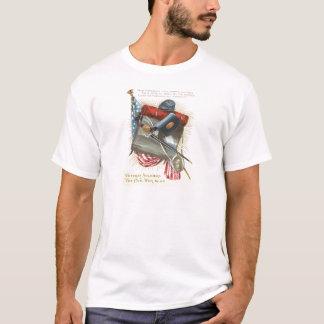 Civil War US Flag Bayonet Canteen T-Shirt