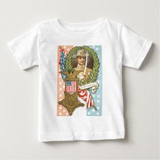 Civil War US Flag Cavalry Wreath T Shirt