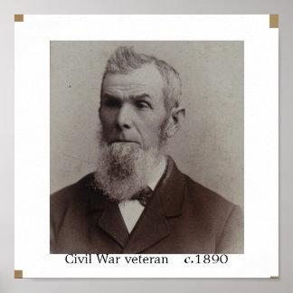 Civil War Veteran circa 1890 Poster