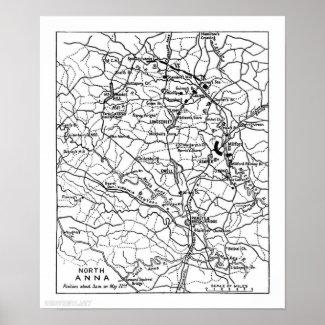 Civil War Wilderness Battlefield Print