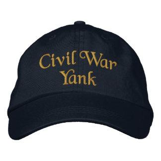 Civil War Yank Embroidered Hat