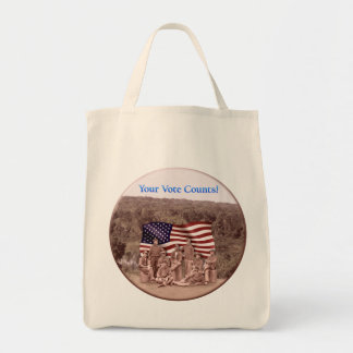 Civil War-Your Vote Counts - Organic Grocery Tote