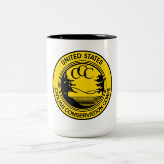 Civilian Conservation Corps CCC commemorative Two-Tone Coffee Mug
