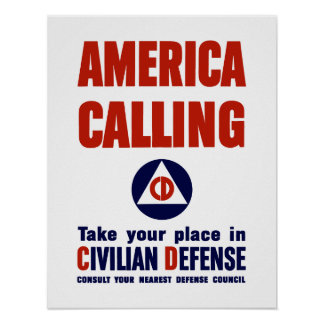 Civilian Defense Poster