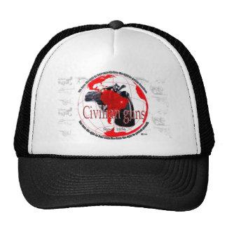 Civilian Guns white T shirt Trucker Hat