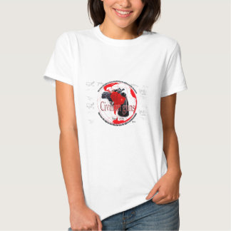 Civilian Guns womens white t shirt