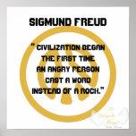 ¡Civilización! Freud-Personalizar de Sigmund Posters