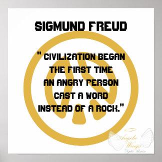 ¡Civilización! Freud-Personalizar de Sigmund Póster