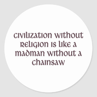 Civilization Classic Round Sticker
