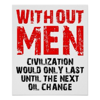 Civilization Without Men Funny Poster
