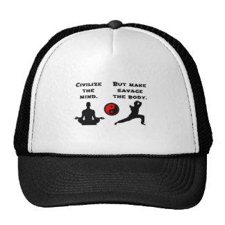 Civilize Mind Savage Body Trucker Hat