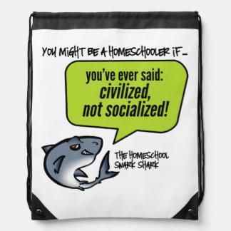 Civilized Not Socialized Drawstring Bag