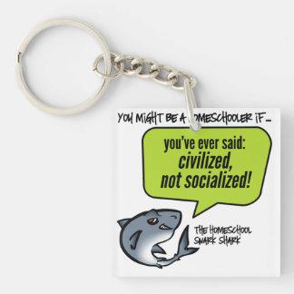 Civilized Not Socialized Single-Sided Square Acrylic Keychain