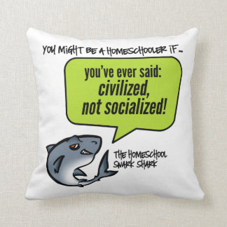 Civilized Not Socialized Throw Pillow