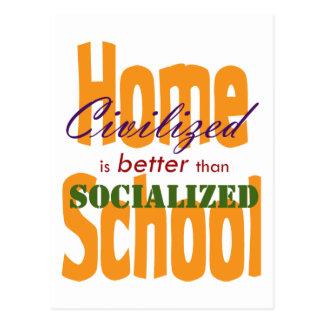 Civilized v Socialized Postcard