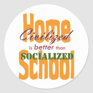 Civilized v Socialized Stickers