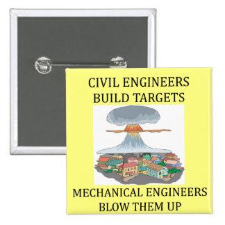 civilmechanical engineers pinback button