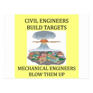 civilmechanical engineers postcard
