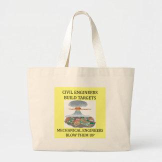 civilmechanical engineers tote bags