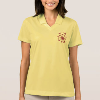 Civishi #123 Red, Abstract Sea Fan Polo Shirt