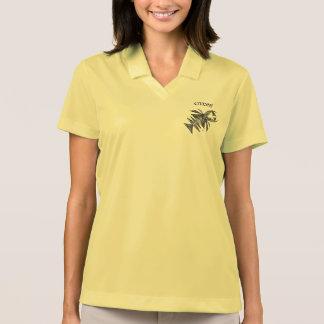 Civishi #218 Black, Abstract Sea Creature Polo Shirt