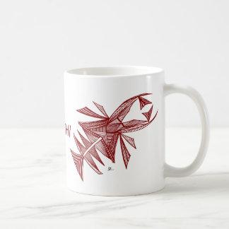 Civishi #218 rojo, criatura abstracta del mar taza