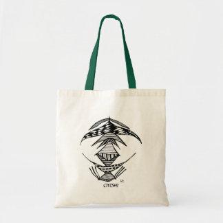 Civishi #23 Black, Abstract Alien Creature Tote Bag
