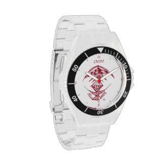 Civishi #23 rojo, criatura extranjera abstracta relojes