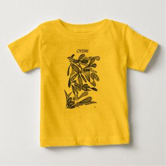 Civishi #262 Black - Abstract Leafy Design Baby T-Shirt